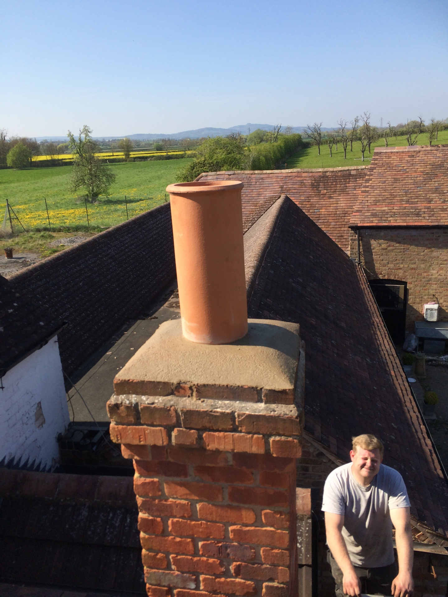 New chimney pot fitted